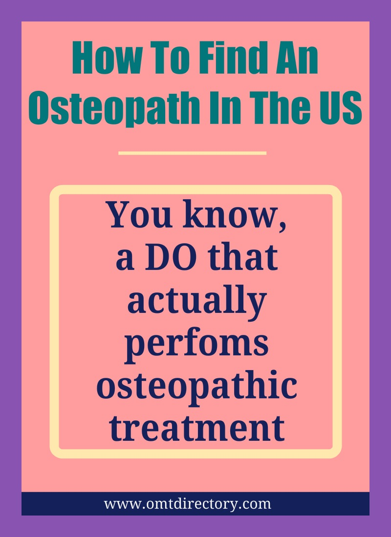 How To Find An Osteopath In The US