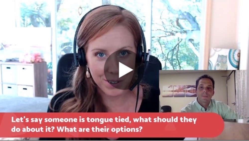 Tongue Tie Q & A with Sarah Hornsby, RDH, Oromyofunctional Therapist